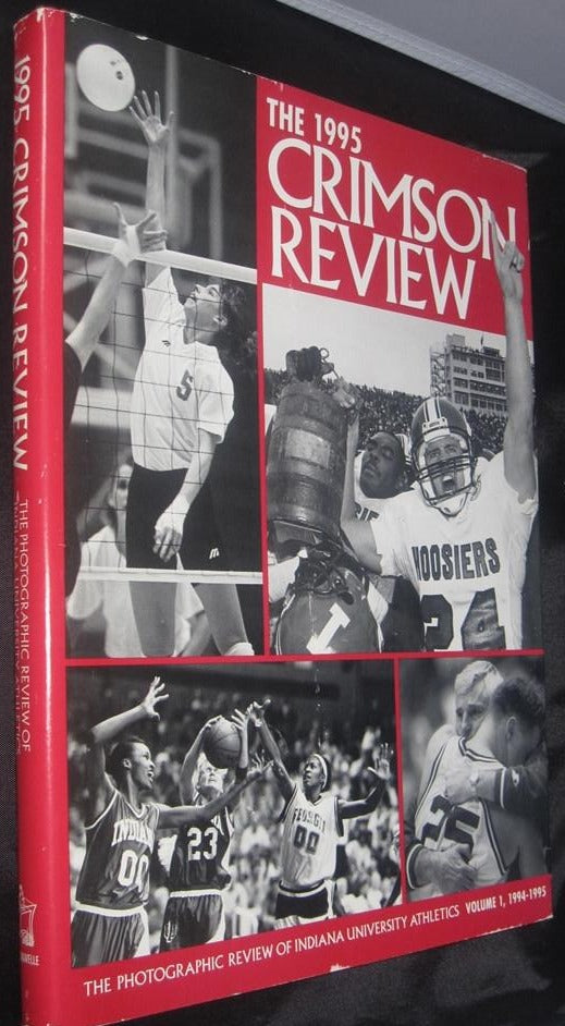 1995 Crimson Review Oversized Indiana University Hardback Book - Vintage Indy Sports