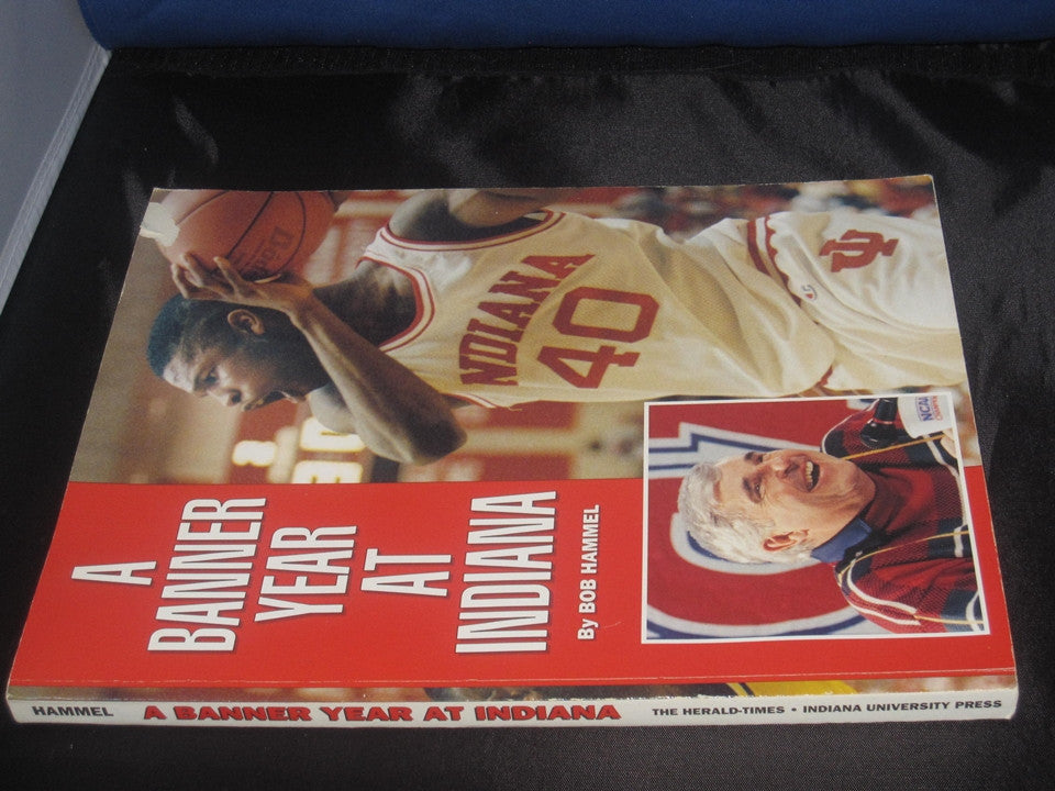A Banner Year At Indiana Oversized Bob Hammel Paperback Book - Vintage Indy Sports