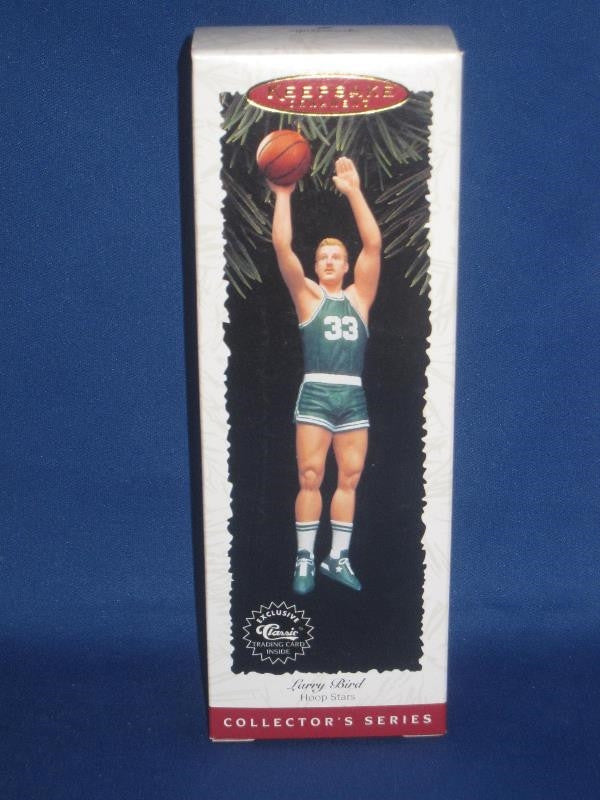 Larry Bird Boston Celtics Hallmark Ornament, New in Box! - Vintage Indy Sports