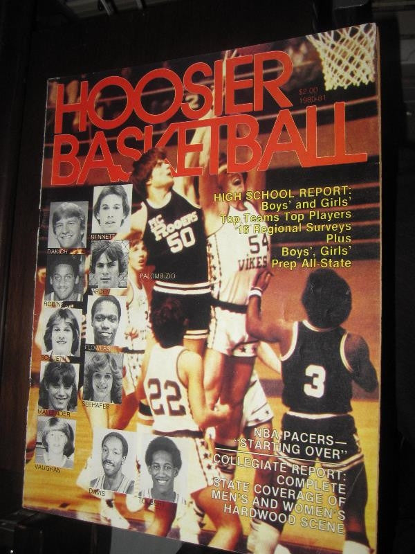 1980-81 Hoosier Basketball Magazine, Dan Palombizio Cover - Vintage Indy Sports