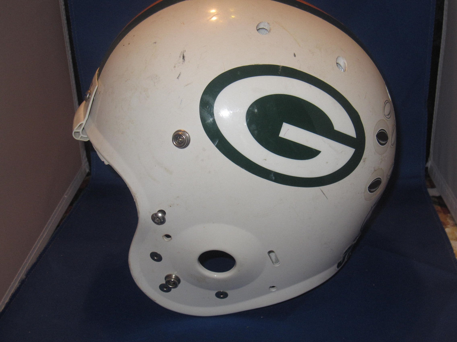 Greenwood Indiana High School Game Used Schutt Football Helmet - Vintage Indy Sports
