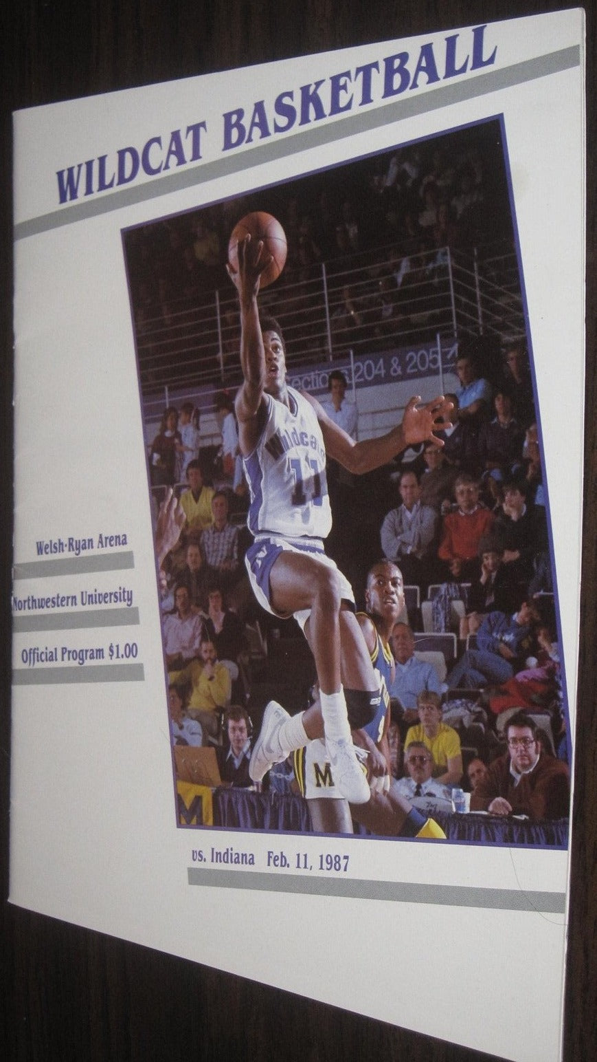 1987 Indiana vs Northwestern Basketball Program - Vintage Indy Sports