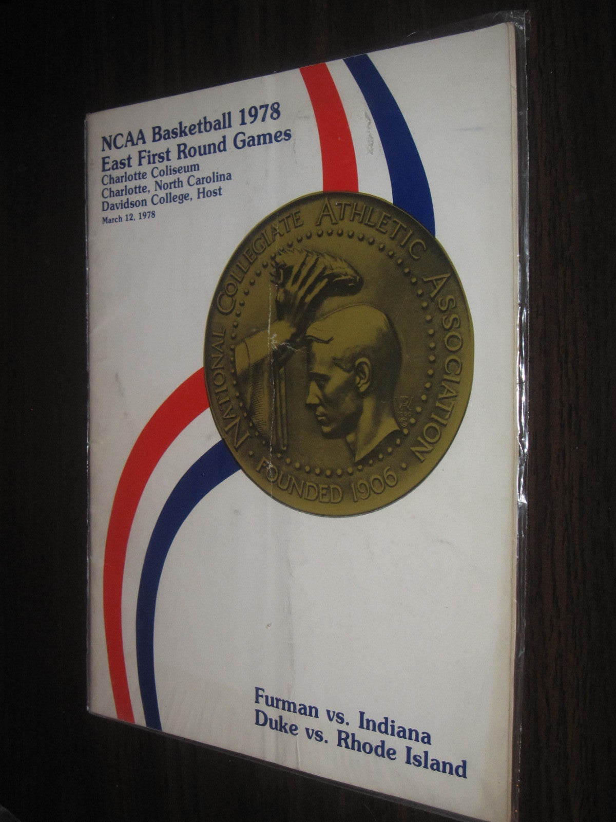 1978 NCAA Basketball East First Round Game Program, Indiana, ,Duke, Furman, Rhode Island - Vintage Indy Sports