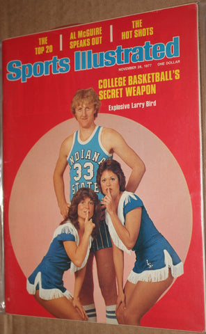 1977 Larry Bird 1st Issue Sports Illustrated, No Label