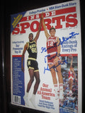 1986 Inside Sports Magazine, Steve Alford Cover, Signed and Inscribed by Coach Knight - Vintage Indy Sports