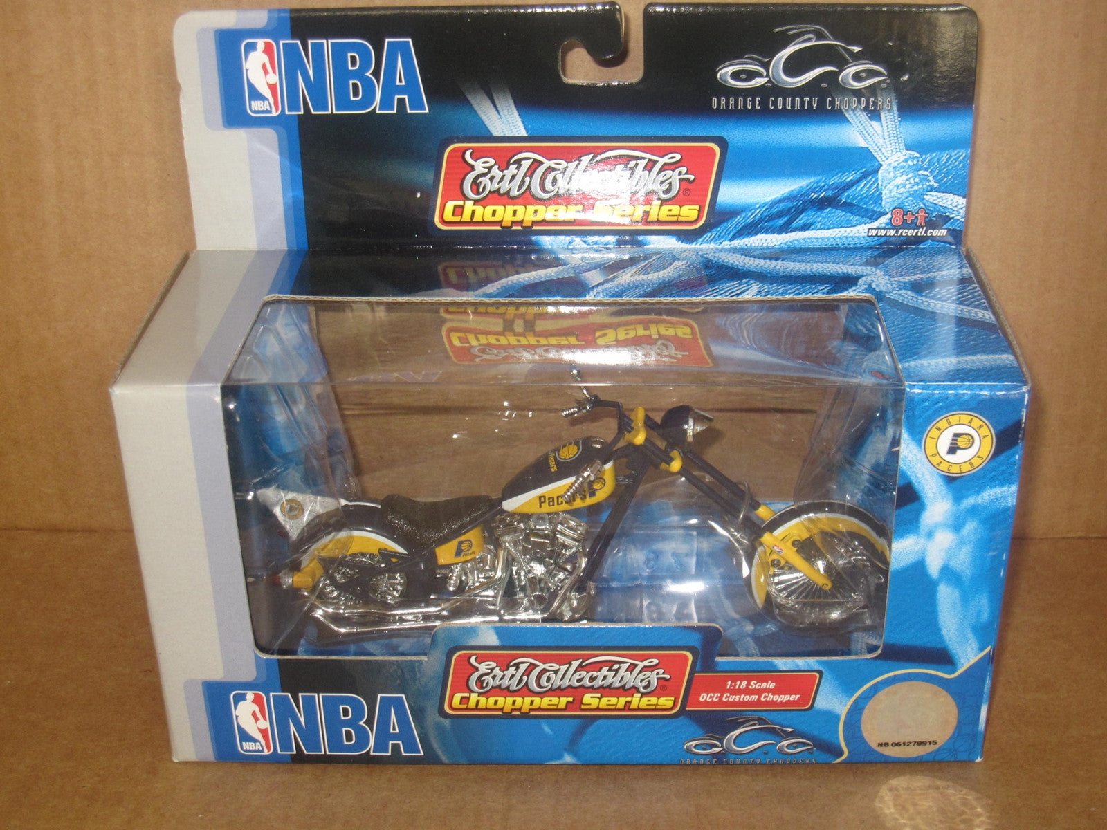 Indiana Pacers Orange County Choppers Diecast ERTL Custom 1:18 Chopper - Vintage Indy Sports