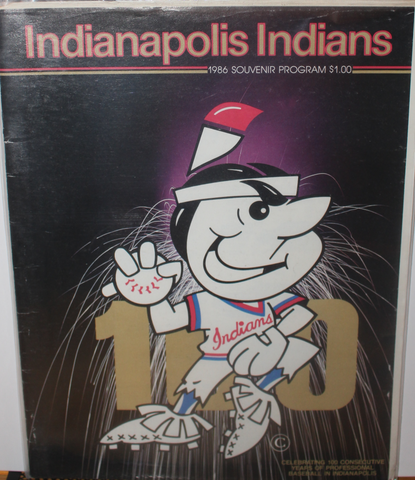 1986 Omaha Royals vs Indianapolis Indians Baseball Program