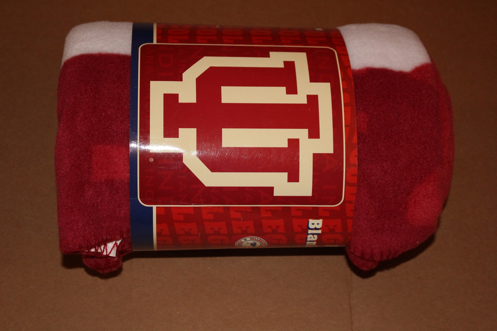 Indiana University Logo Fleece Blanket - Vintage Indy Sports