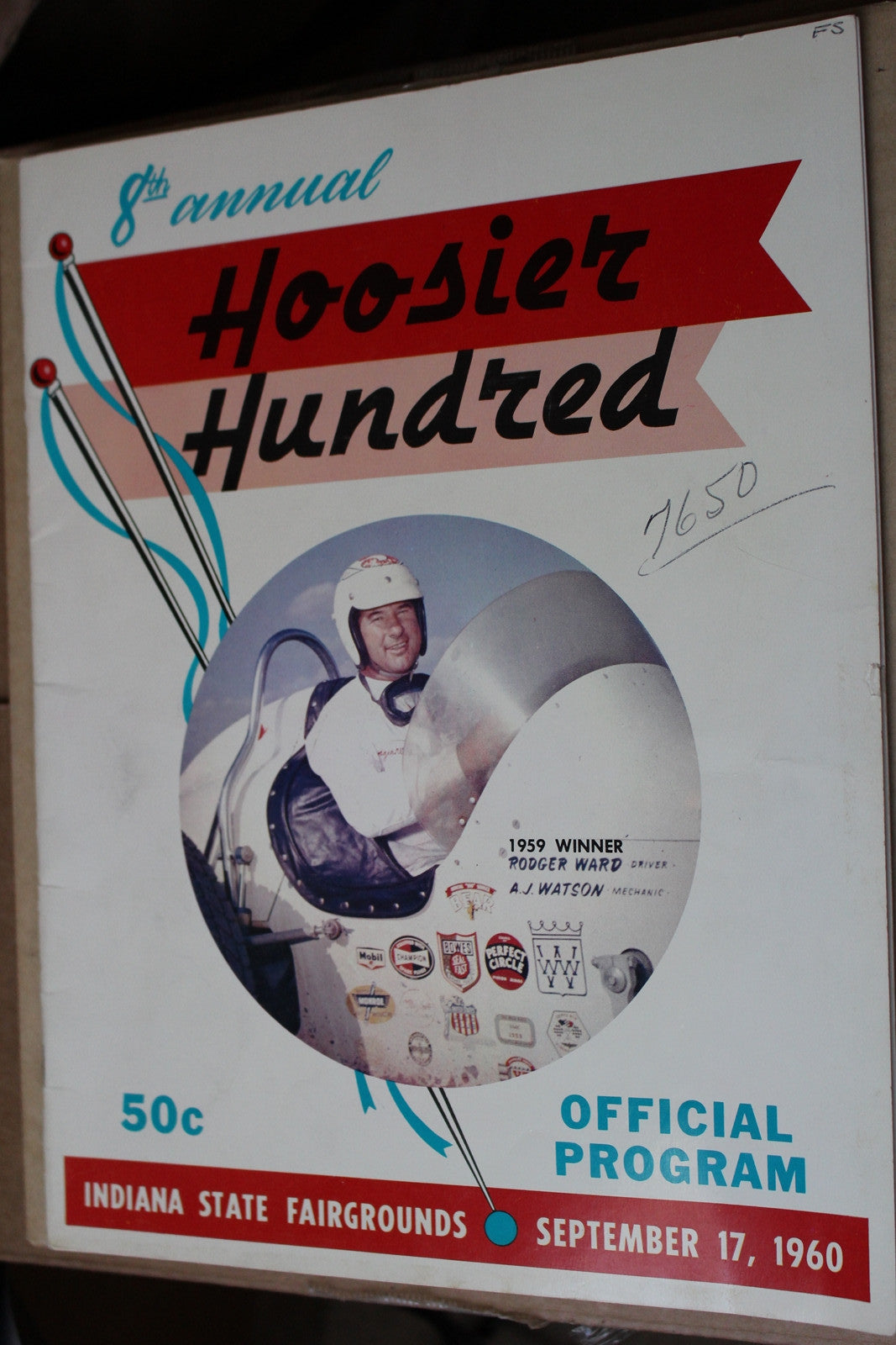 1960 Hoosier Hundred Race Program - Vintage Indy Sports