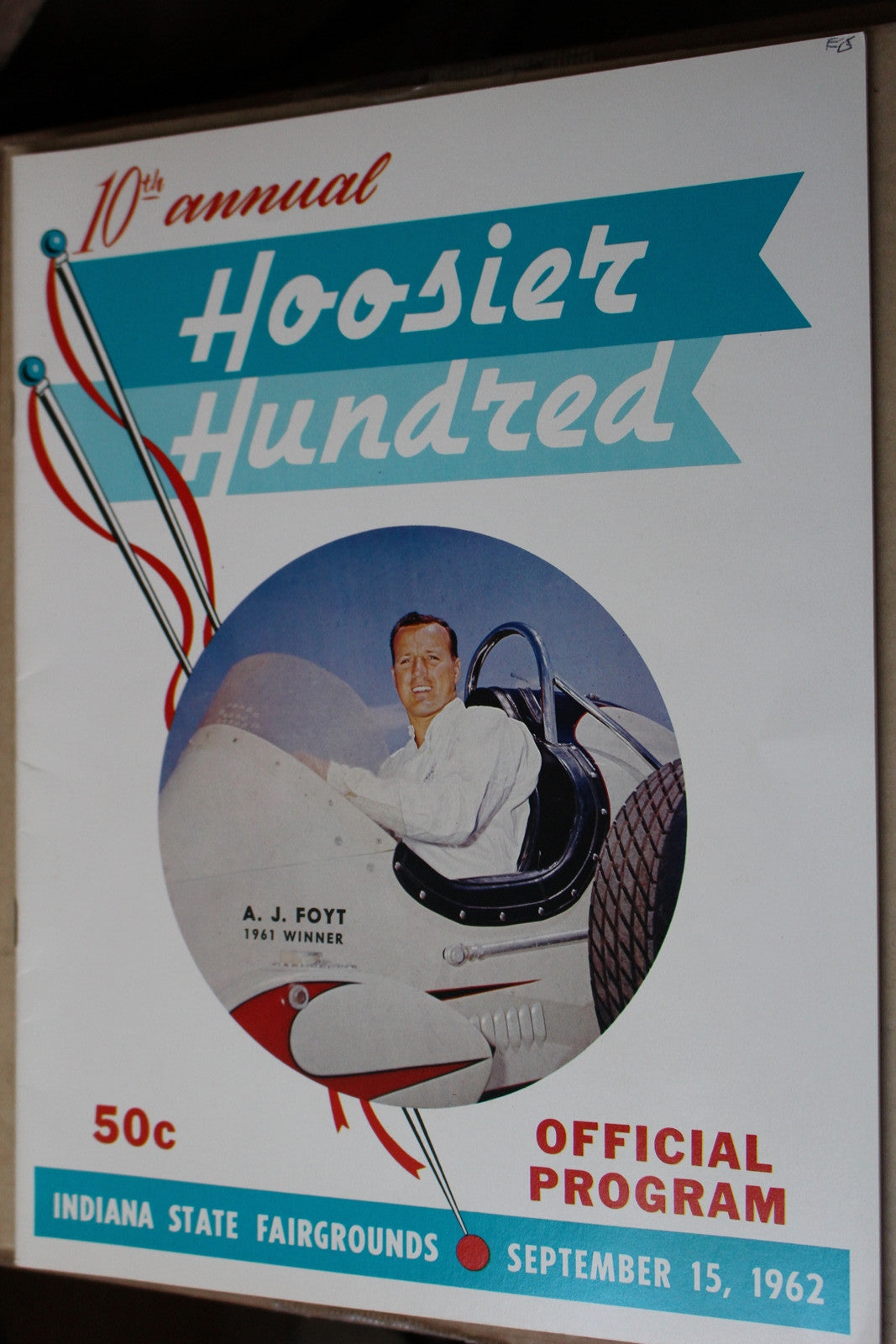 1962 Hoosier Hundred Race Program - Vintage Indy Sports