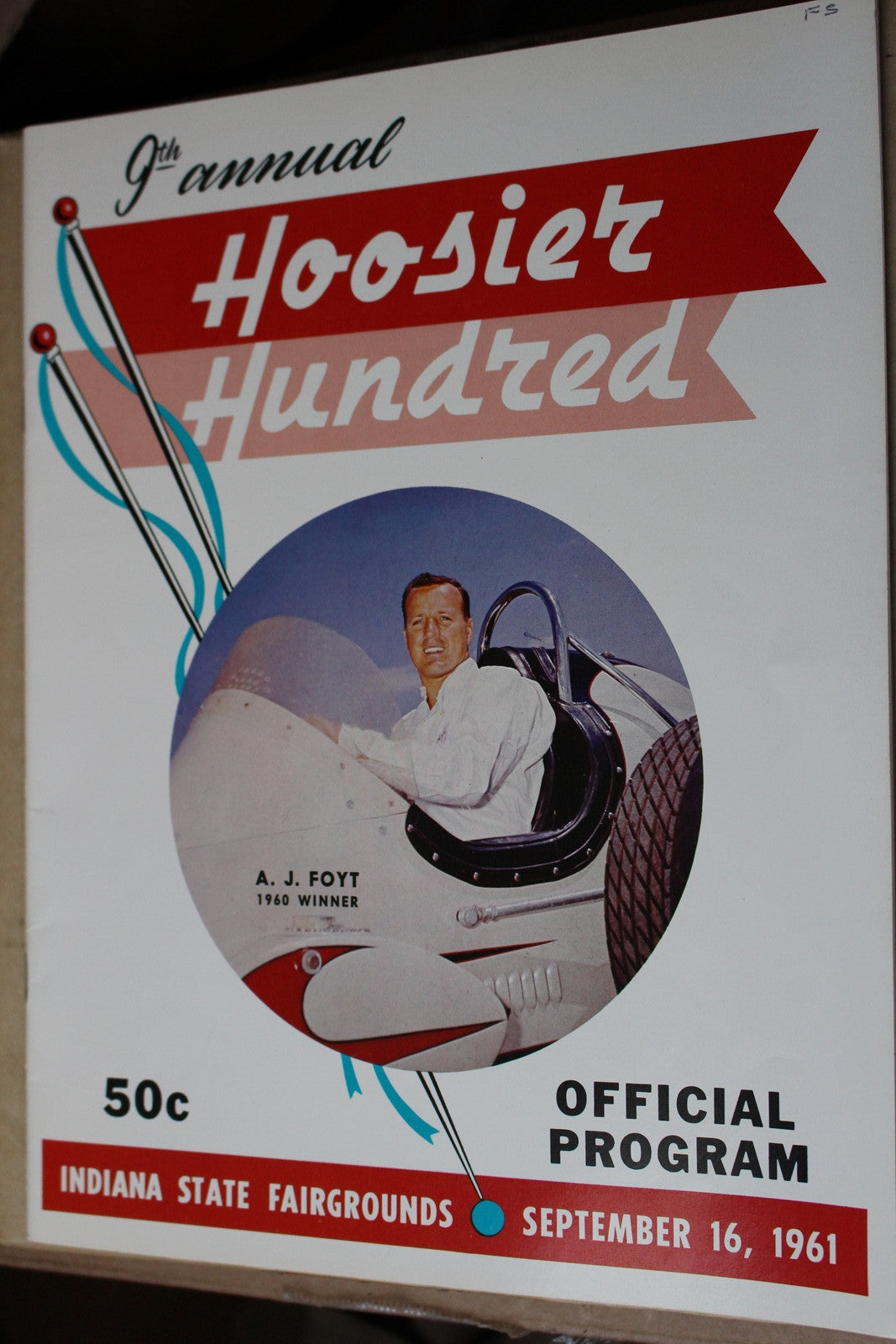 1961 Hoosier Hundred Race Program - Vintage Indy Sports