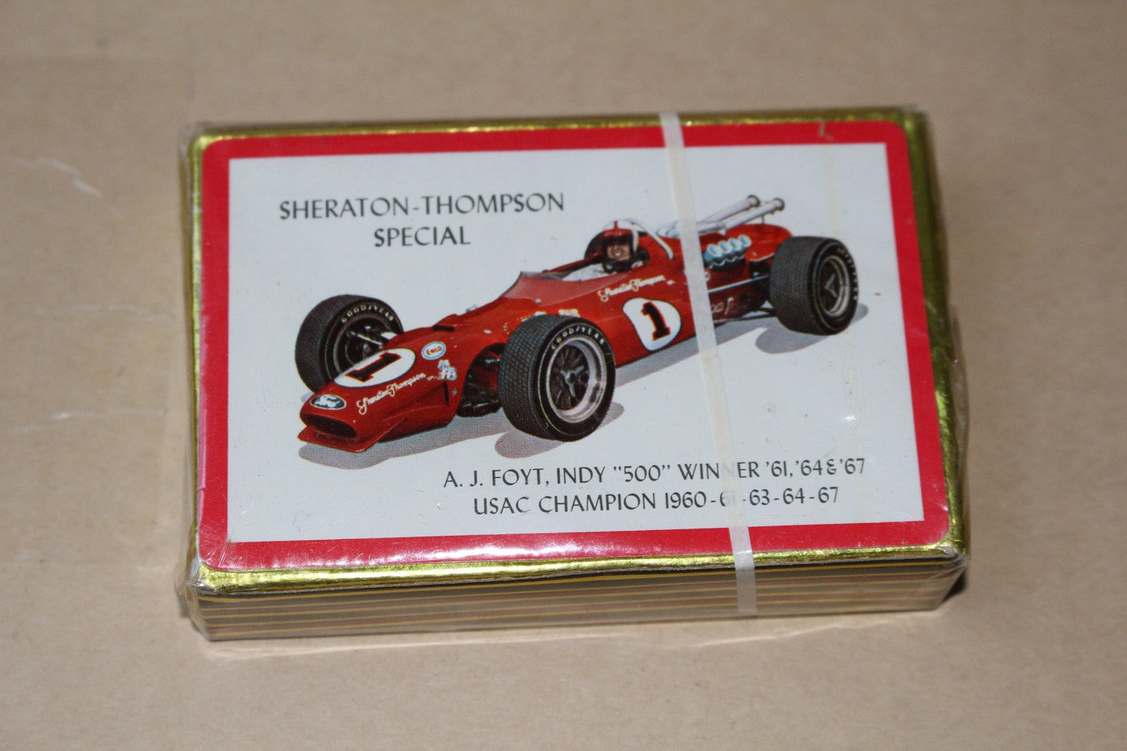 1967 A.J. Foyt Playing Card Deck, Unopened! - Vintage Indy Sports