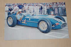 1957 Pat O'Connor Indianapolis 500 Postcard - Vintage Indy Sports