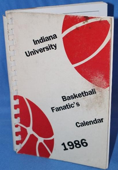 1986 Indiana University Basketball Fanatic's Calendar - Vintage Indy Sports