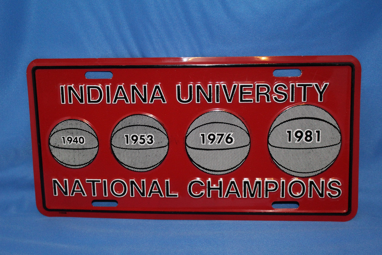 1981 Indiana University NCAA Basketball Champions License Plate - Vintage Indy Sports