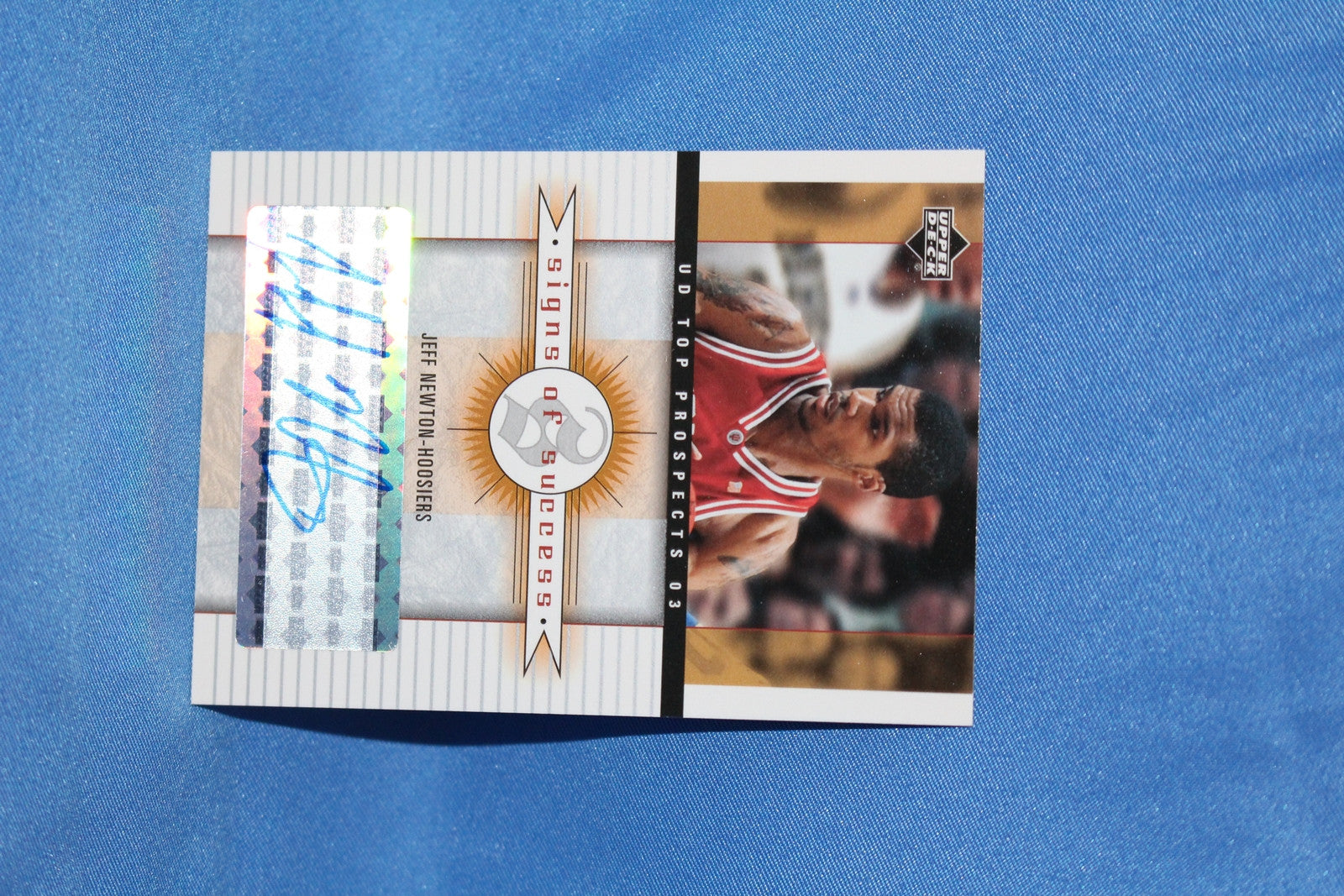 2003 Upper Deck Jeff Newton Indiana University Basketball Autograph Card #SS-JN - Vintage Indy Sports