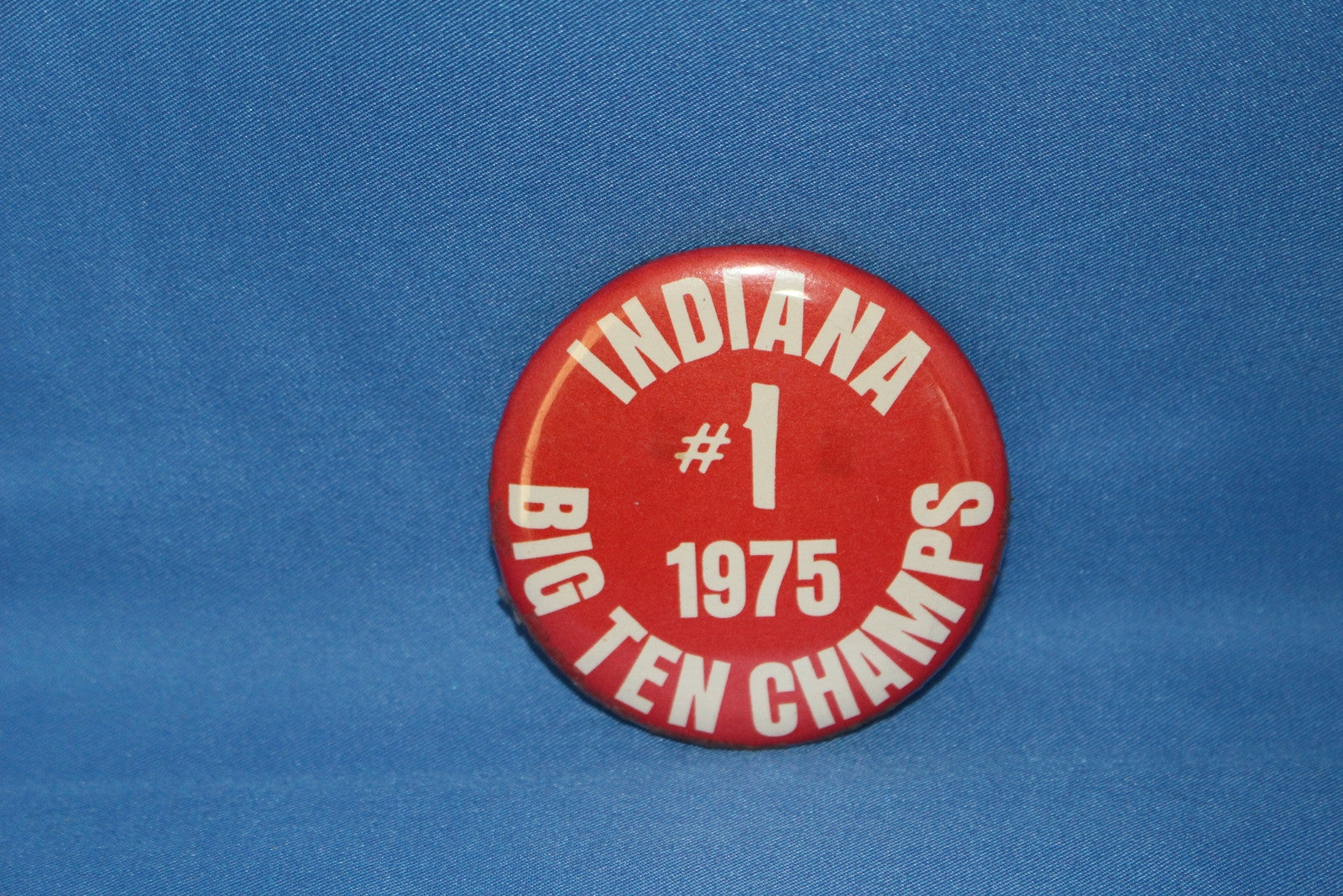 1975 Indiana University Basketball Pinback Button - Vintage Indy Sports