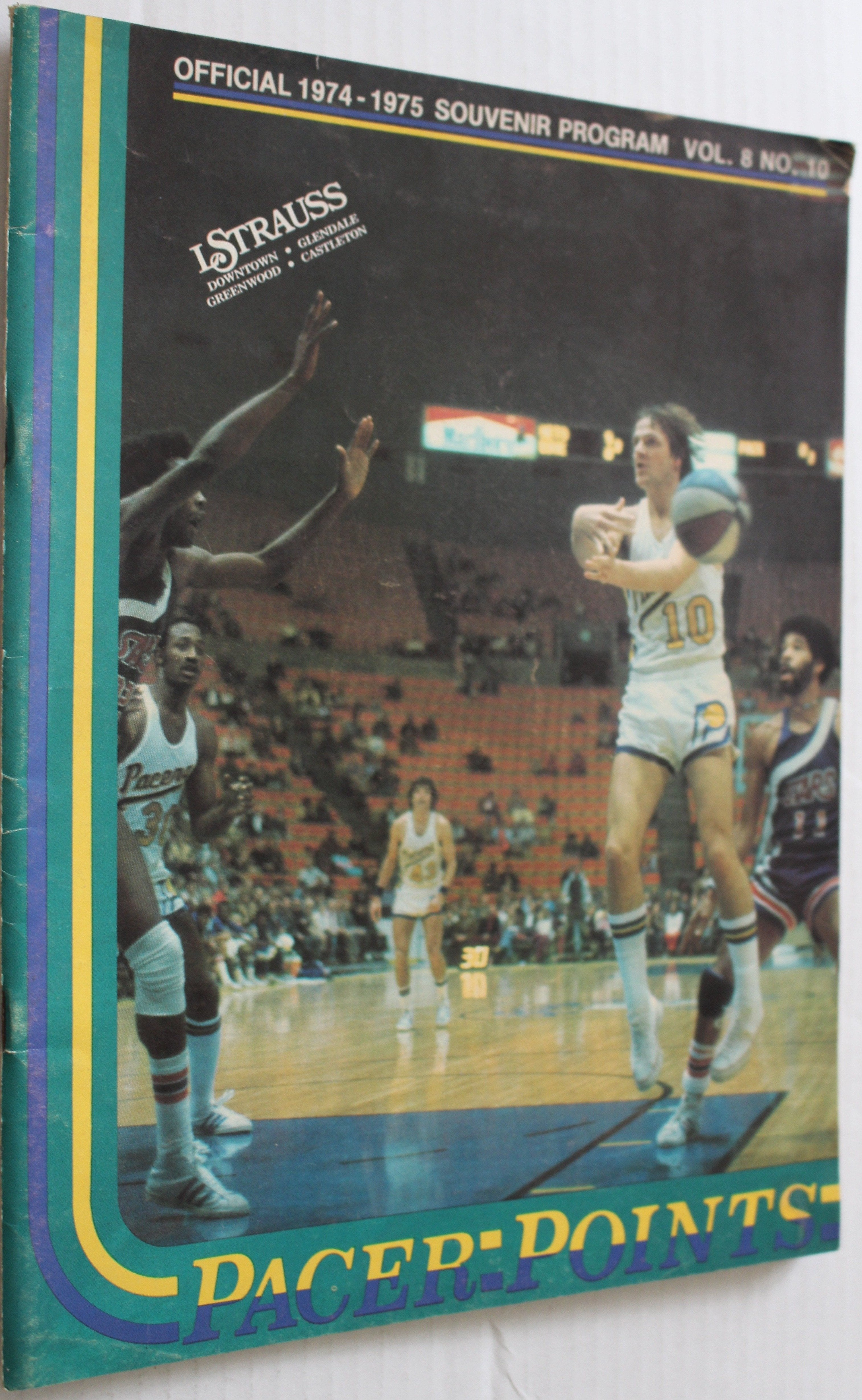 1974-75 Indiana Pacers ABA Basketball Program - Vintage Indy Sports