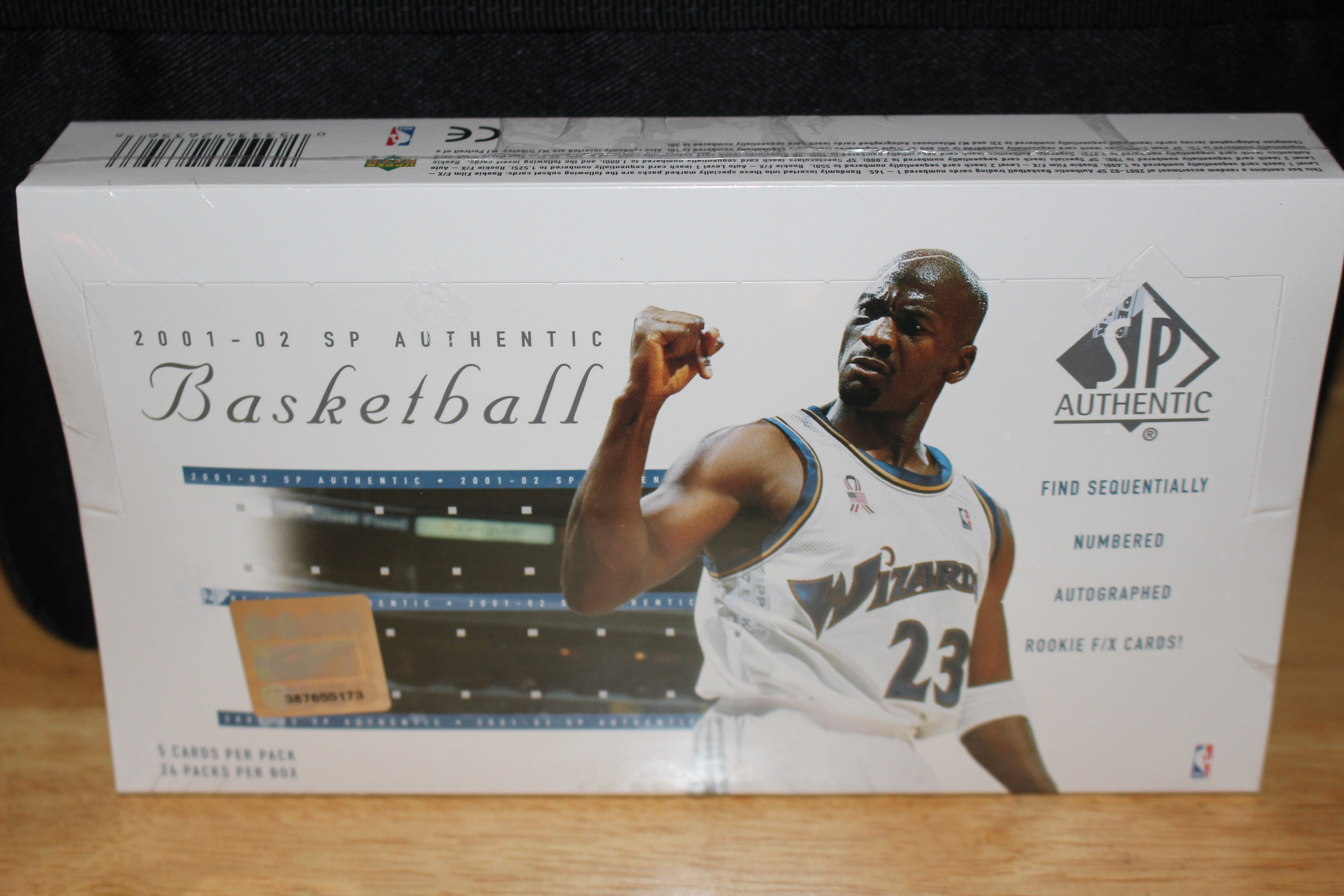 2000-01 SP Authentic Basketball Hobby Wax Box, Factory Sealed