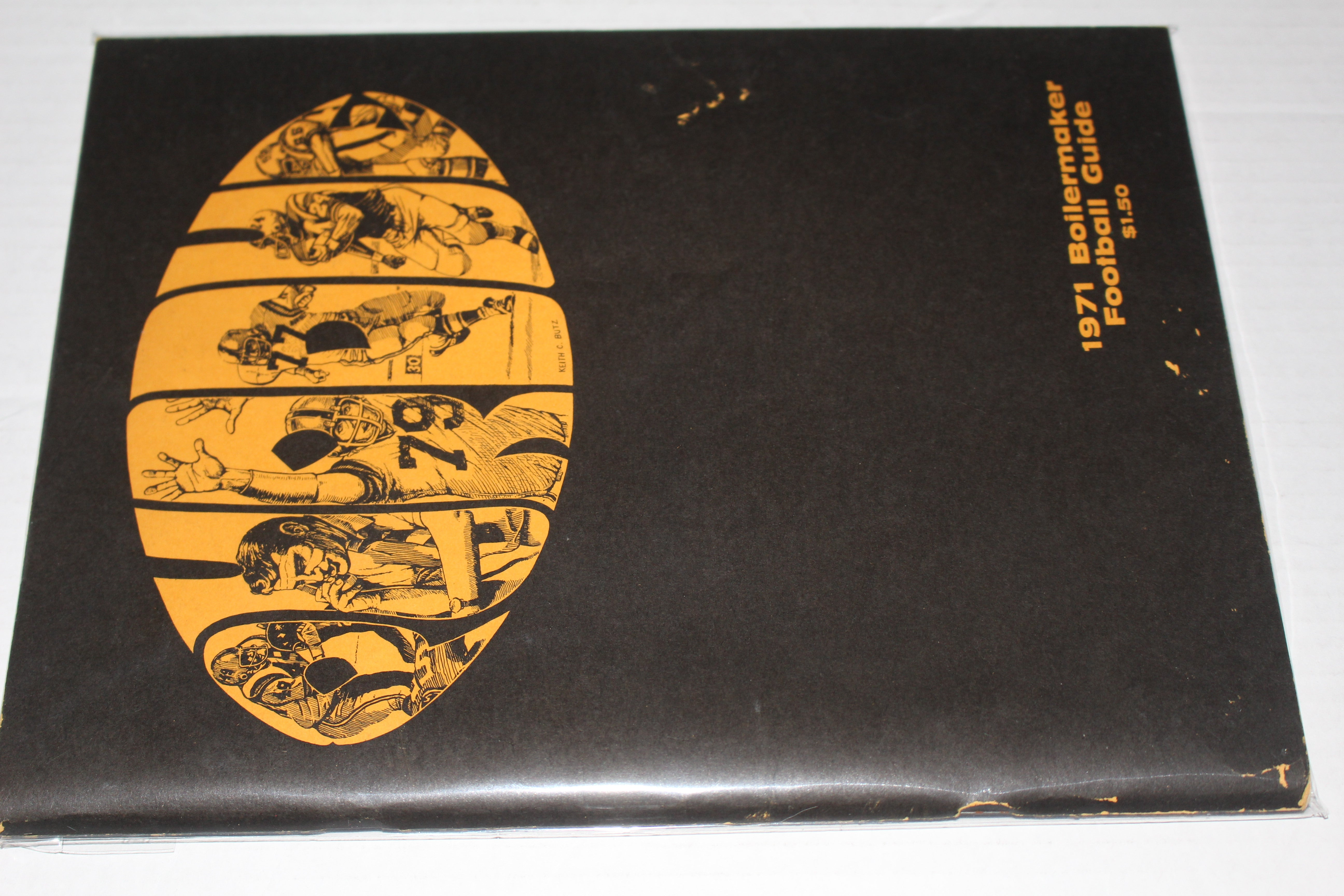 1971 Purdue University Boilermaker Football Guide - Vintage Indy Sports