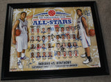 2007 Indiana High School Basketball All Star Team Autographed Poster - Vintage Indy Sports