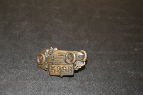 1954 Indianapolis 500 Bronze Pit Badge #5233
