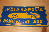 "Vintage 1940's Indianapolis Home of the ""500"" License Plate"