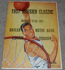 1957 Hoosier Classic Basketball Program, Butler, Indiana University, Notre Dame, Purdue