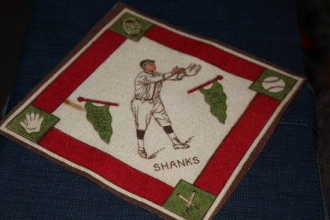 1914 B-18 Howie Shanks Tobacco Felt Blanket, Washington Senators