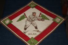 1914 Clyde Milan Washington Senators B-18 Tobacco Felt - Vintage Indy Sports