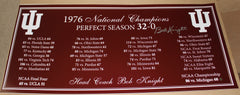 Bob Knight Autographed 1976 Indiana University Perfect Season Panoramic Photo