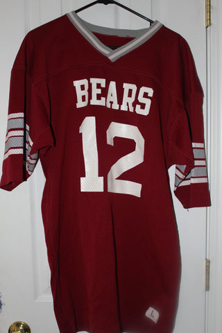1977 Steve Risley Game Worn Lawrence Central Indiana High School Football Jersey