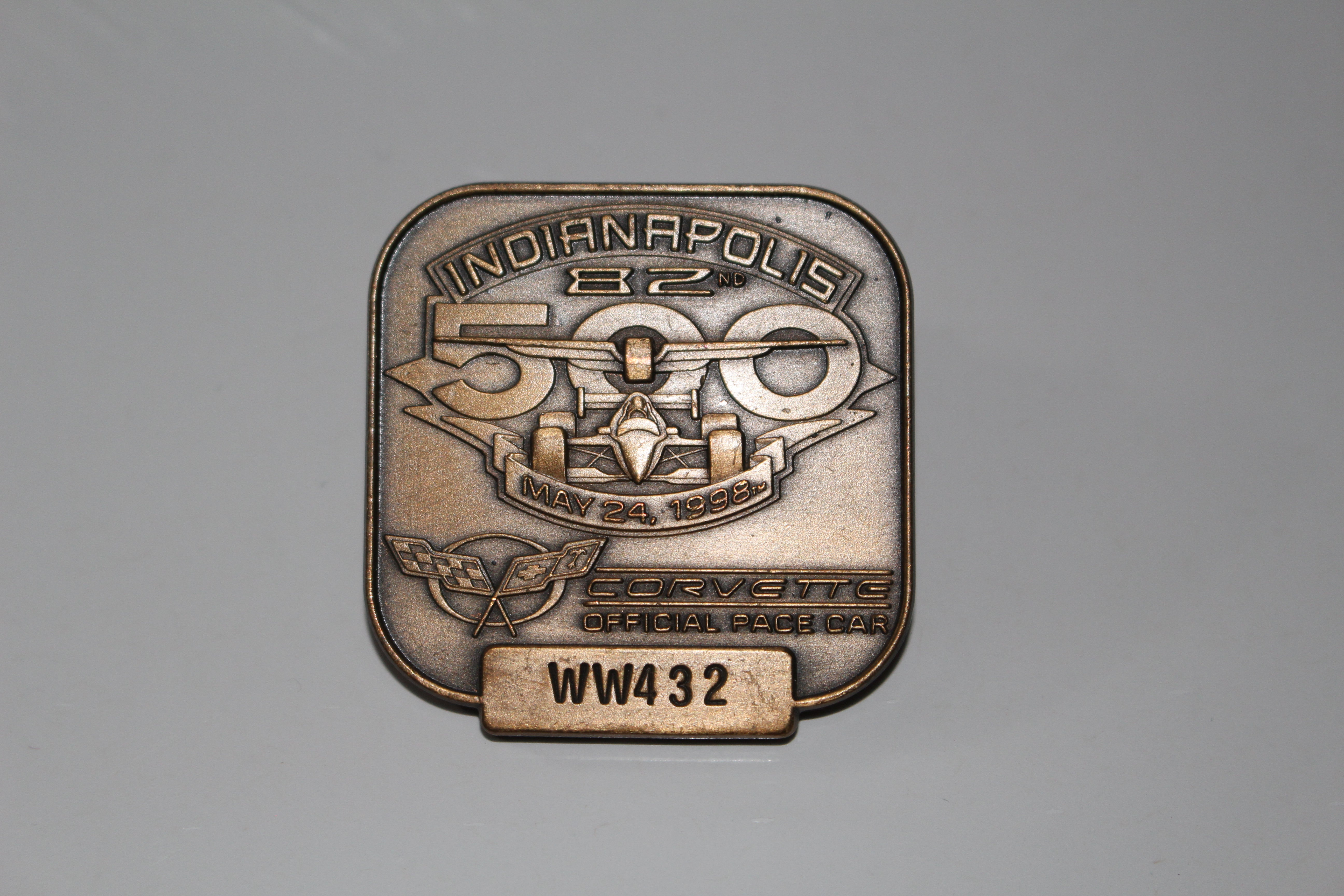 1998 Indy 500 Bronze Pit Badge