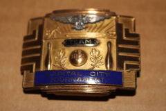 1951 Indianapolis Capital City Bowling Tournament Team Champions Belt Buckle - Vintage Indy Sports