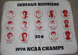 1976 Indiana University Basketball NCAA Champs Seat Cushion, Unused. - Vintage Indy Sports