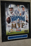 Peyton Manning Super Bowl XLI MVP Photo Plaque, Limited Edition