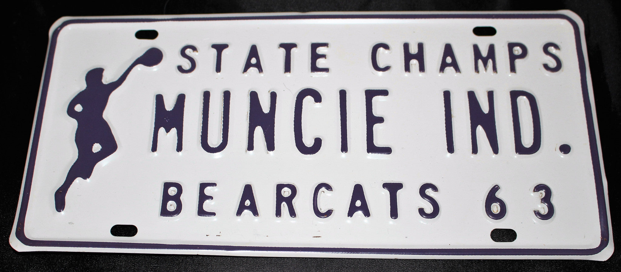 1963 Muncie Central H.S. Basketball State Champions License Plate - Vintage Indy Sports