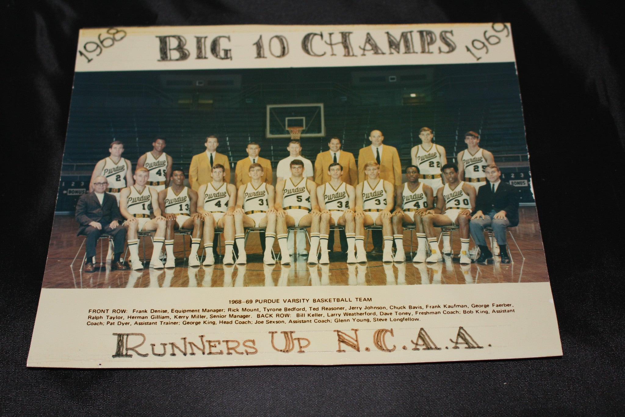 1968-69 Purdue University Basketball NCAA Runners Up Photo - Vintage Indy Sports