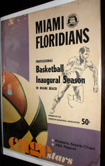 1968-69 Indiana Pacers vs Miami Floridians ABA Basketball Program
