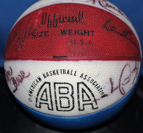 1970's Indiana Pacers Autographed ABA Basketball