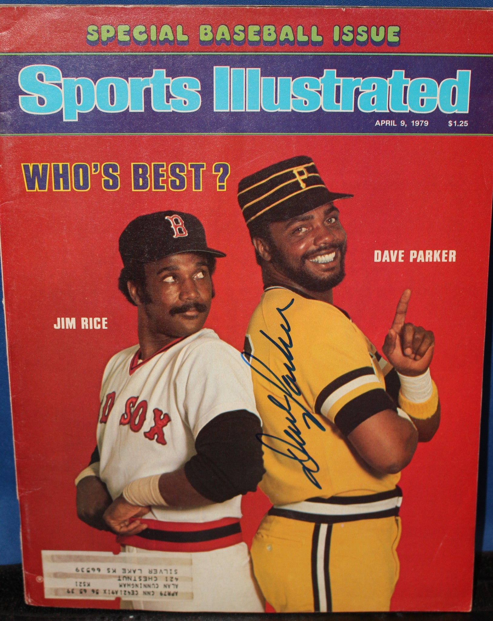 1979 Dave Parker Pittsburgh Pirates Autographed Sports Illustrated Issue - Vintage Indy Sports