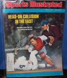 1976 Lou Piniella NY Yankees Autographed Sports Illustrated Issue - Vintage Indy Sports