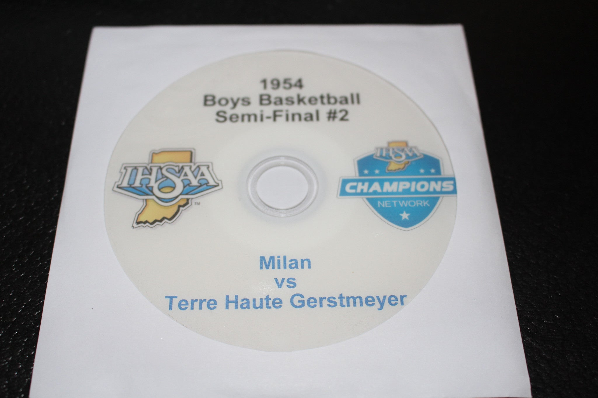 1954 Indiana High School Basketball Semi Final #2 DVD - Vintage Indy Sports