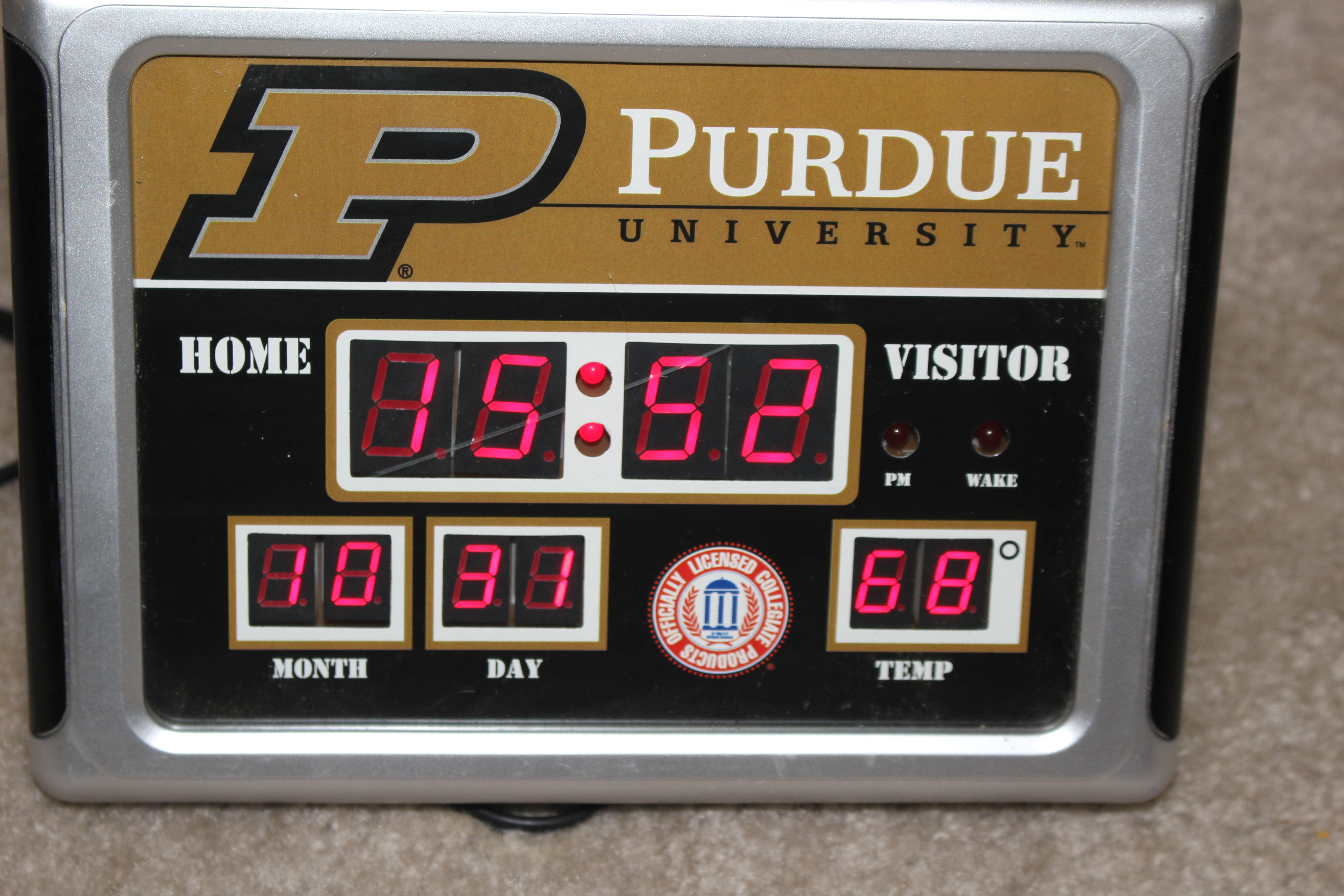 Purdue University Desktop Scoreboard Clock