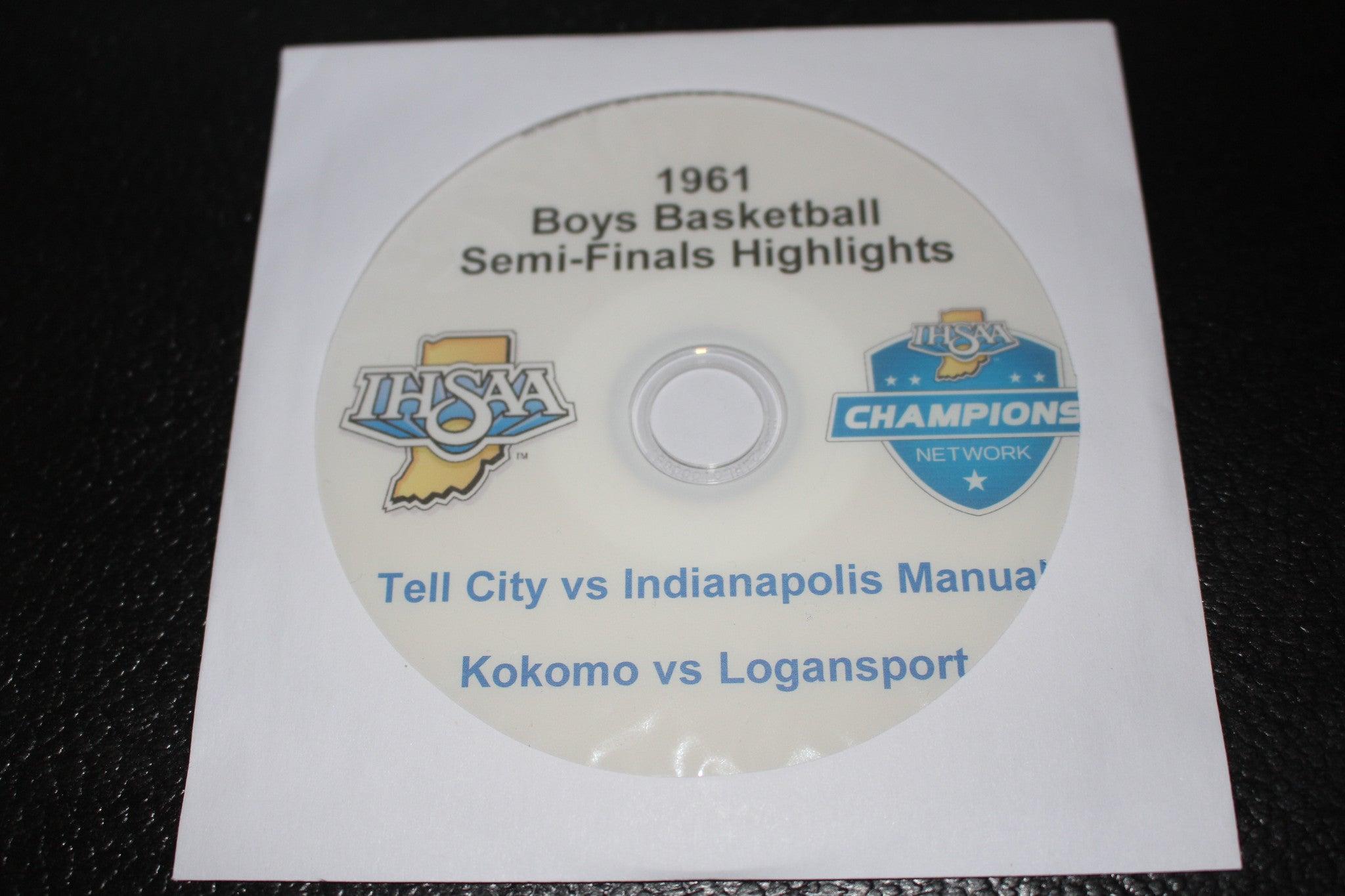 1961 Indiana High School Basketball Semi-Finals DVD - Vintage Indy Sports