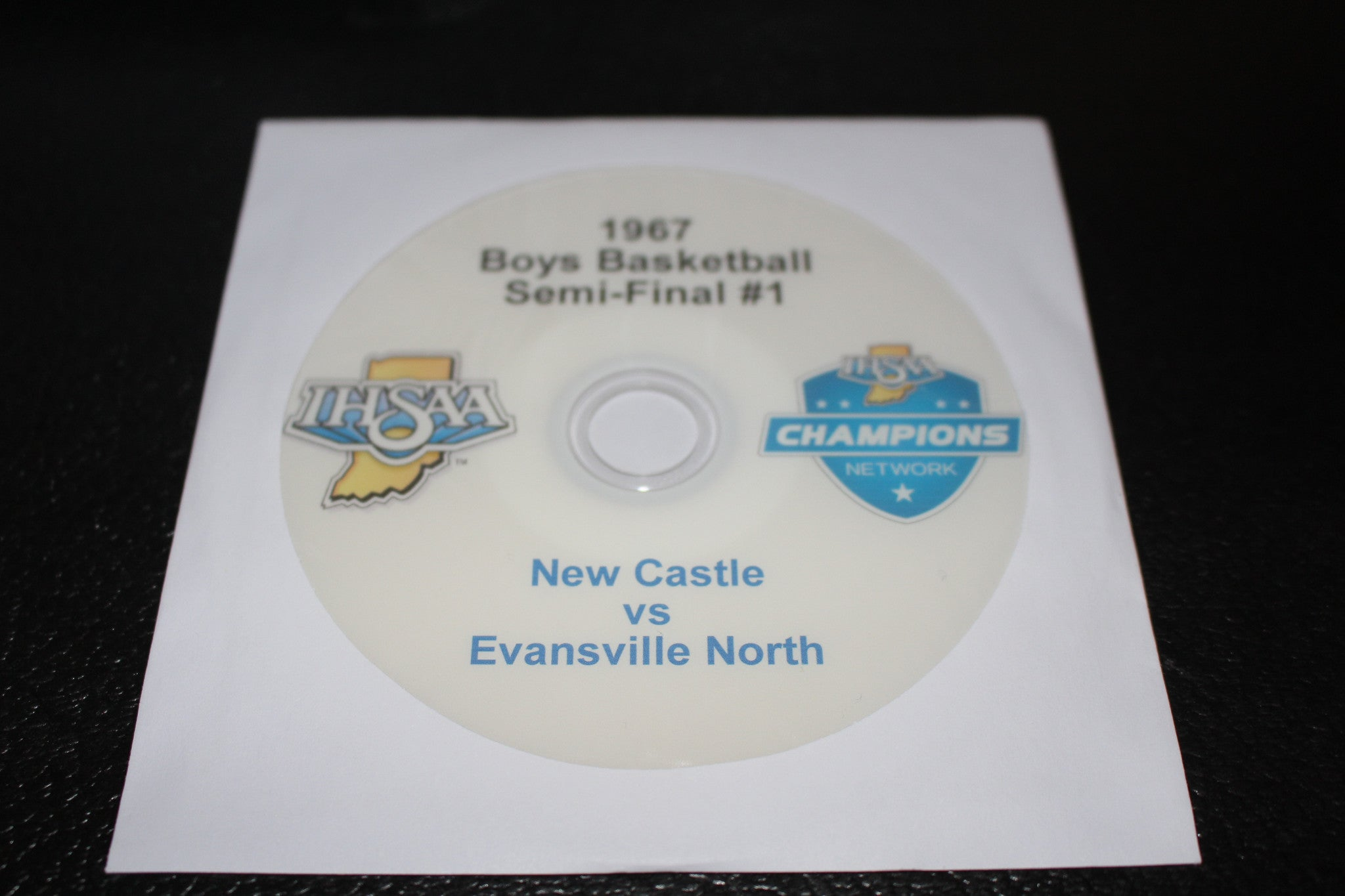 1967 Indiana High School Basketball State Semi-Final #1 DVD - Vintage Indy Sports