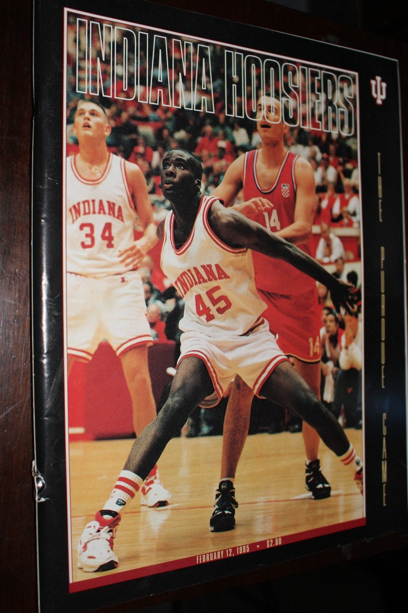 1995 Purdue vs Indiana Basketball Program - Vintage Indy Sports