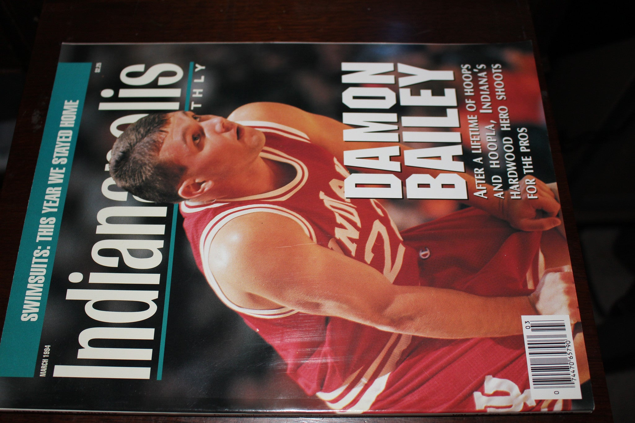 March 1994 Indianapolis Monthly Magazine Damon Bailey Indiana University - Vintage Indy Sports
