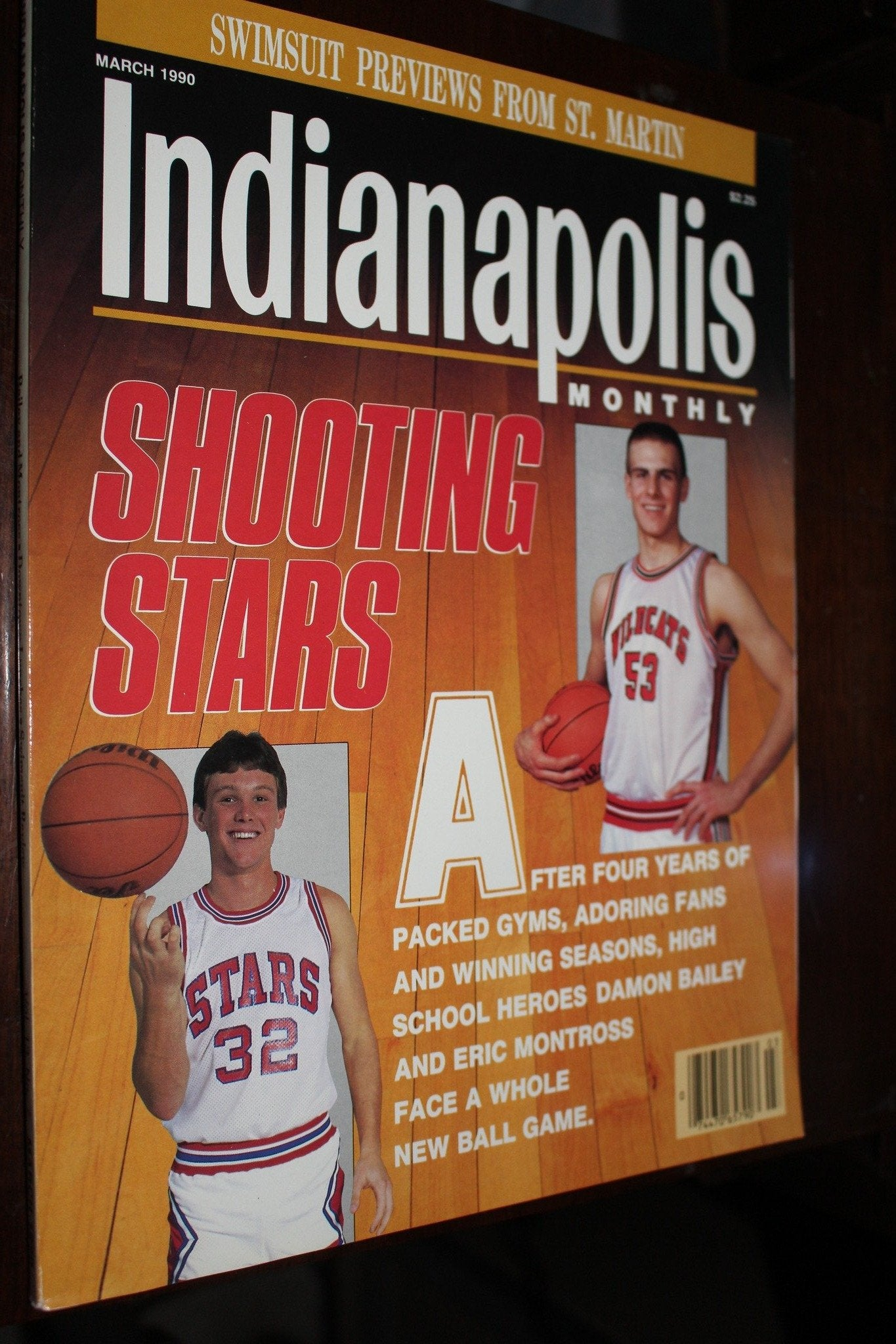 March 1990 Indianapolis Monthly Magazine Damon Bailey Eric Montross - Vintage Indy Sports