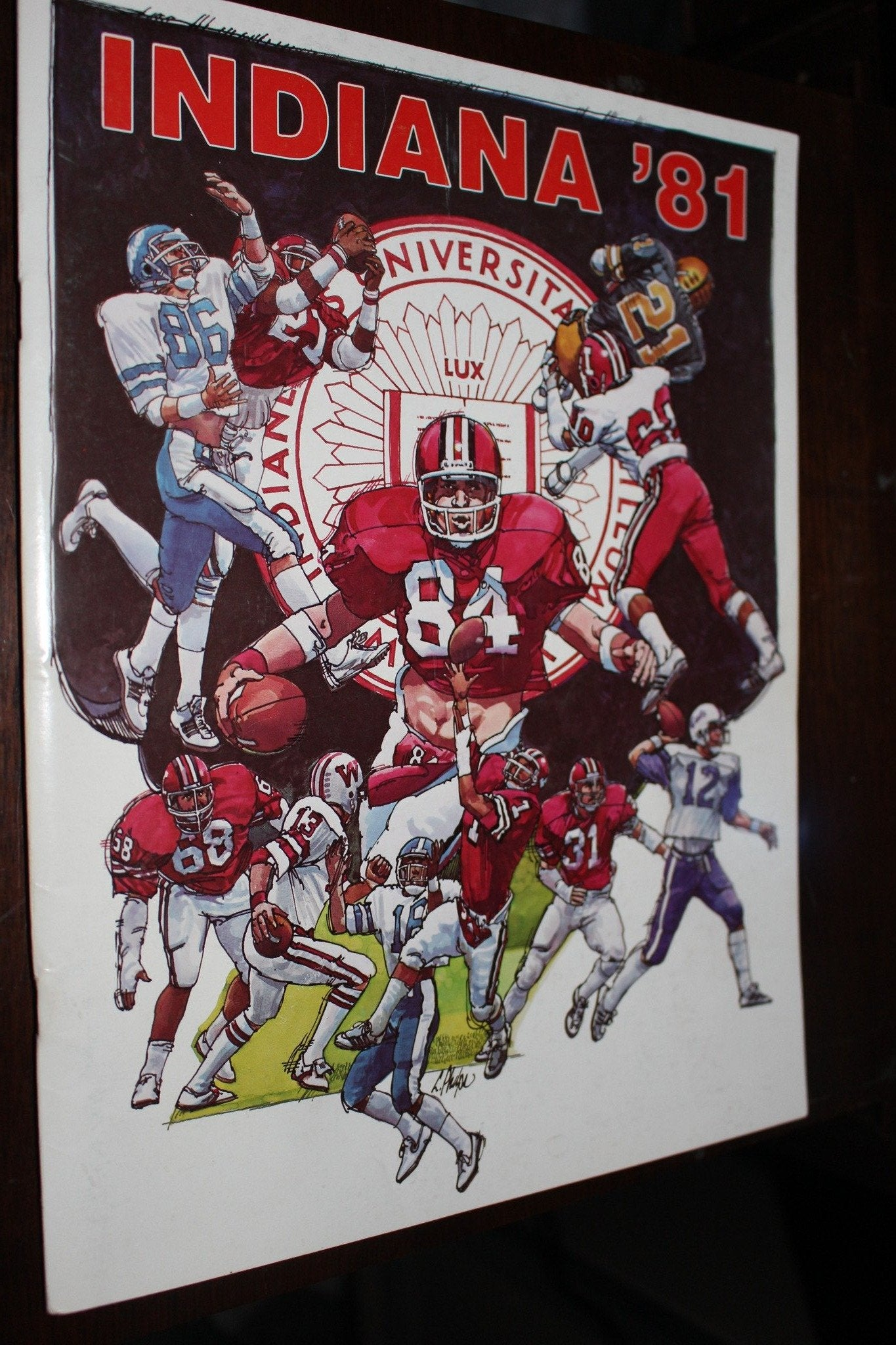 1981 Indiana University Football Media Guide - Vintage Indy Sports